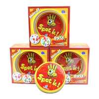 Wholesale Spot Toys - Spot It Card Game Board Game for Children Magic Fun with Family Gathering the Animals Paper Quality Card Metal Box 2507019