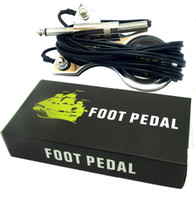 Wholesale Pedal Power Cables - Wholesale-TATTOO power supply Stainless steel FOOT PEDAL SWITCH with silicone cable for Tattoo machine Gun LINER SHADER