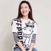 Wholesale Clothes Brand Labels - Designer Womens fashion, original label of Italian luxury brand women's clothes cartoon T-shirt