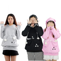 Wholesale Hoodies Ears For Women - Cat Lovers Hoodie Sweatshirt with Cuddle Pouch Dog Pet Hoodies for Casual Kangaroo Women Pullover with Ears Long Sleeve Plus Size XL