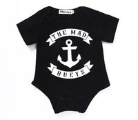 Wholesale stylish boys clothes - INS Baby boys clothes kids short sleeve romper the mad hueys infant jumpsuit stylish casual cotton top newborn toddler clothing set