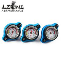 Wholesale Cap Radiator - Wholesale- LZONE RACING- D1 Spec RACING Thermost Radiator Cap COVER + Water Temp gauge 0.9BAR or 1.1BAR or 1.3 BAR Cover JR-DRC09,11,13