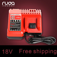 Wholesale 18v Tool Battery - Power Tool Battery Charger for Milwaukee Replacement Lithium Battery Charger for Milwaukee M18& M14 Fit For 14.4V~18V Battery