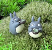 ingrosso miyazaki hayao totoro figura-20 PZ Hayao Miyazaki Totoro con Microcup Cartoon Action Figure Piccoli Ornamenti Carino Micro Ornamenti Paesaggio mestiere