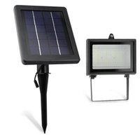 Hot Selling 30 LEDs 6V 2.5W Solar Light Solar Powered Outdoor Waterproof Spotlight Lawn Landscape Inundação Lamp Lawn Emergência Iluminação YK-S50