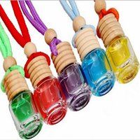 Wholesale Perfume Ornaments - Cylinder Pendant bottles Cylindrical car ornaments bottles hanging car accessories car perfume empty bottles free shipping F2017165