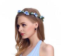 ingrosso corona di fiori artificiali della fascia-Hair Crowns Flower Headbands Women Floral Floral Hairbands Fashion Headwear for Girls Accessori per capelli Beach Wedding Garlands 77