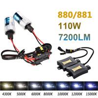 Wholesale Hid 55w Set - 2pcs 880 881 55W Xenon HID Light Set Sigle Beam 4300K 6000K 8000K DC330 Car Light Source Xenon Headlamp