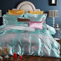 Wholesale Jacquard Luxury Comforters - Luxury Bedding Elegant Cotton Silk Jacquard Comforters Duvet Cover Sets European-Style Bedding Four-Piece Cotton Bedding Sets Quilts