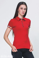 Wholesale Cotton Lycra T Shirts Lady - Lattice stripes Women's High Quality Brand Polos T-Shirts Fashion Short Sleeve Cotton Ladies Tshirts Off Shoulder Tees Tops Black White