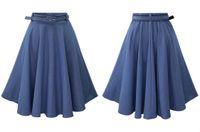 Wholesale Cheap Wash Clothes - jean skirt dress maxi hig waisted midi casual clothing spring women cheap dresses elegant elastic waist vintage skirts washed soft denim