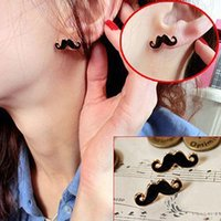 Wholesale Vintage Mustache - ES125 Special Spike European and American Vintage Jewelry Cute Stud Earrings Sexy Mustache Accessories