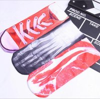 Wholesale Wholesale Galaxy Socks - 3D Pork Socks Bones Claw Print Anklet Sports Cotton Hosiery Fashion Animal Socks Slipper Galaxy Dollars Summer Ship Socks Underwear B3440