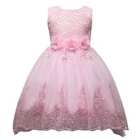 Wholesale Party Dresses For Teenage Girls - Fantast Costumes Girls Long Tail Princess Party Pretty Dress flower girl dress for wedding casual summer clothe