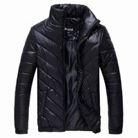 Wholesale Men Thermal Clothes Wholesale - Wholesale- 2016 New Men's Winter Jacket Casual Warm Coat Male Stand Collar Parkas Men Cotton Jackets Fashion Thermal Brand Clothing LA069