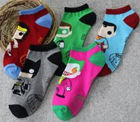 Wholesale Summer Shorts Teenagers - Superhero Children Teenager Cartoon Socks Summer Comnfortable Thin Short Sock Cotton Breathable Kids Boys Girls Socks Drop Shipping