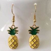 Abacaxi Dangle Drop Earring Alloy Fashion Charm Fruit Party Jóias Gold For Women Gift Hot Wholesale