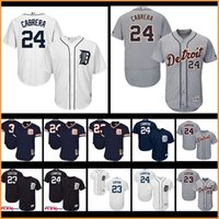 Wholesale Detroit Jerseys - Men's Detroit Tigers jerseys 24# Miguel Cabrera 23# Kirk Gibson baseball jersey Flex Base cool base 100% stitched Player Jersey