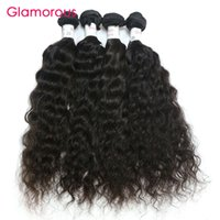Wholesale New Arrival Glamorous - Glamorous Brazilian Human Hair 4 Bundles Wet and Wavy Virgin Hair Weave New Arrival Peruvian Indian Malaysian Wavy Hair Extensions for women