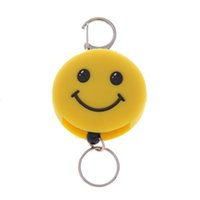 Wholesale Lychee piece Cute Cartoon Animal Monkey Panda Retractable Key Chain Key Ring Silicone Hanging Pendant for Men Women