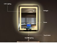Wholesale Bathroom Led Vanity Lights - Bathroom Wall Mount Lighting Led Vanity Mirror with Lights Bathroom Mirrors with Touch Button Screen for Home Decor
