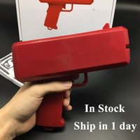 Wholesale Toys Models Guns - 1pcs sell money Gun Cash Cannon Money Gun Fashion Toy Make It Rain Money Gun Red Christmas Gift Toys