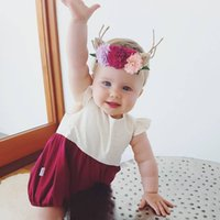 Wholesale White Onesies Newborn New - New Newborn Clothing baby Girls Dots Summer Rompers kids One Piece Clothing white Baby Onesies Jumpsuit Infant Wear Clothes Toddler A222