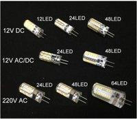 Wholesale Mini Lamp 12v 5w - free ship LED G4 Bulb Mini Corn lamp DC12V AC DC12V 110v 220V 12 24 48 64LED Cold Warm White lights 1W 3w 5w LED Replace10W Halogen