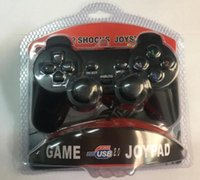 Wholesale Usb Controller For Ps2 - USB Game Controllers Gamepad Joystick PS2 Wired Handle Game Control Single Vibration 208 PC Game Handle #SB03