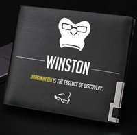Wholesale Black Imagination - Winston wallet Imagination discovery purse Game short long cash note case Money notecase Leather burse bag Card holders