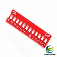 Wholesale 12 Position Dip Switch - Wholesale Free shipping Switch Module 12p 12-Bit 12 Position Way Slide Type 2.54mm Pitch DIP (Red)