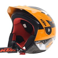 Wholesale Open Face Cross Helmet - KTM Helmet Professional Cross Country Climbing Helm World Climbing Race Motorcycle Lining Removable Helmets Dirt Bike DOT ECE Trails Helmet