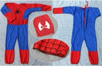 Commercio all'ingrosso 200 set DHL hot Costume Cosplay Spiderman Superman Costume di Halloween Tute Kit Bambini BAMBINO manica lunga costume da supereroe cosplay set