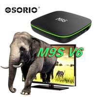 M9S Android Smart Box OTT TV M9S V6 Quad core Internet IPTV Box 1GB 8GB WIFI Internet Game Streaming Box supporto HDMI H.265 film gratuito