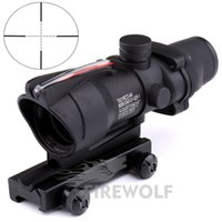 Wholesale Rifle Scopes Sale - 2017 New Hot sale 4x32 ACOG Style Optical Rifle Scope Magnification Scope For Hunting Free Shipping