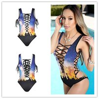Polyester spa training - 2017 new ladies Women s Sexy Cross Strap Backless Monokini Bodysuit Swimsuit one piece spa Beach training Bathing Suit