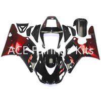 98 r1 verkleidungen rot großhandel-3 Werbegeschenke Complete Fairings für Yamaha YZF 1000-YZF-R1-98-99 YZF-R1-1998-1999 Motorrad Full Verkleidung Kit Schwarz rot Stil V30