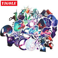 Wholesale musical beautiful - 28pcs lot Very Beautiful Starry Sky Stickers Classic Toys PVC Fashion Laptop Skateboard Suitcase Sticker Toy For Kids