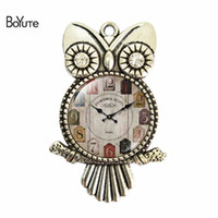 Wholesale clocks images - BoYuTe (12 Pieces Lot) New Arrive 55*36*25MM Antique Silver Plated Vintage Image Cabochon Clock Pattern Pendant DIY Pendant