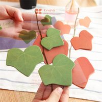 Wholesale Shape Sticky Note Pad - SET 2 PACKS 120 PAGES LEAF SHAPE STICKER POST IT BOOKMARK MARKER MARK MEMO NOTES INDEX TAB PAD STICKY PAPER SELF ADHESIVE STATIONERY FREE
