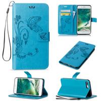ingrosso casi di iphone della farfalla-Per iPhone X 8 Plus Custodia a farfalla in rilievo Custodia fondina per iPhone 7 6 6S Plus 5 5S SE Sumsung S8 Plus