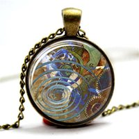 Wholesale victorian necklaces for sale - Group buy 10pcs Victorian Inspired Jewelry Steampunk Watch Pendant Cosplay Steampunk Glass Photo Cabochon Necklace