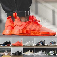 NMD Runner R1 Mesh Triple Blanc Black Branch Purple City Pack Hommes Femmes Chaussures de course Sneaker Originals Primeknit Fashion Brand NMDs Runner