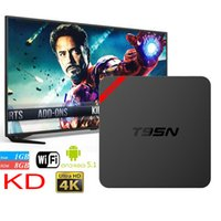 Wholesale Mx Internet Tv Box - Android OTT TV Box T95N Mini MX+ pro Android 6.0 Amlogic S905 Quad-core kd 16.0 4K 1G+8G Smart Internet TV Box better than MXQ Pro 30PCS