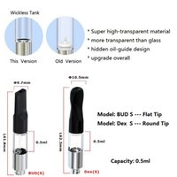 Wholesale Empty Bear - 2018 New empty thick oil cartomizer no wick vape tank wickless BUD S ball bearing atomizer VS G2