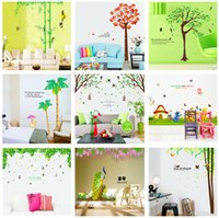 Wholesale Cartoon Character Bedroom Sets - Extra Large Size Mixed order wall stickers collection for room decoration 60*90CM PC 2PCS SET dozens of art sticker types available