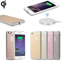 Wholesale Wireless Phone Charger Case - High Quality Fast Charger QI Wireless Charging Receiver Phone Case For iPhone 6 6plus with Retail Box in Stock