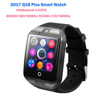 Wrist Teléfono Wifi Android Baratos-2017 Q18 Plus 1.54 INCH Bluetooth Smart Watch en la muñeca con WIFI GPS 3G para Android Teléfono inteligente Wear Wearable dispositivo Smartwatch