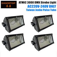 Wholesale Atomic Black - High Quality 4XLOT Blacking Casting 3000W DMX Atomic Flashlight China Supplier Gas Discharge Tube Digital Programmed 6pin Socekt