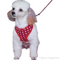 Wholesale Star Harness - Cotton stars design Dog Harness Soft Air Nylon Mesh Pet Harness Cheap Dog Cloth Small Pet Dog Vest Harness Dog Apparel